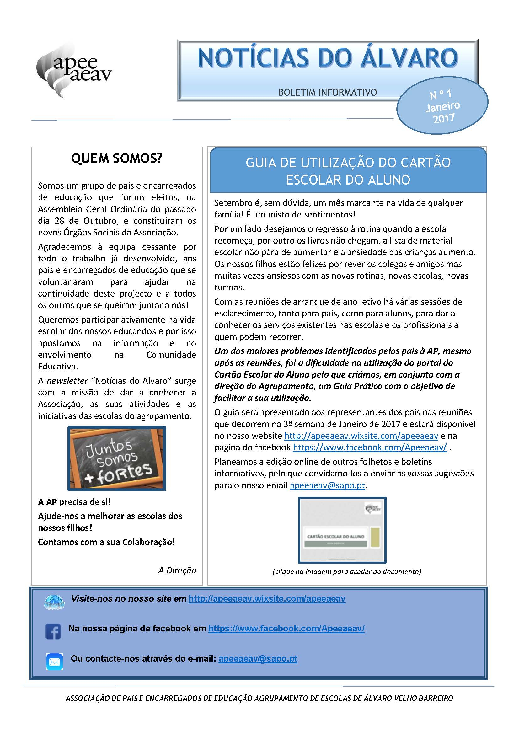Páginas de Newsletter apeeaeav n1 jan2017